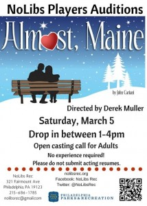 NoLibsPlayers_AlmostMaine_AuditionFlyer