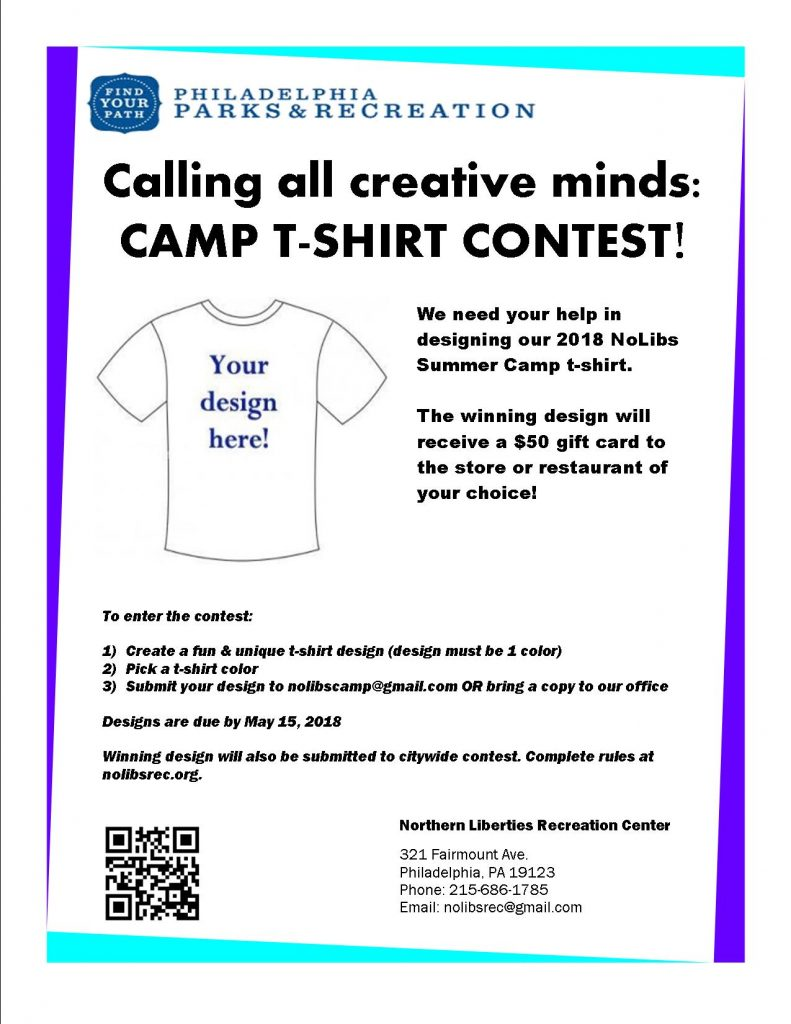 t shirt design contest northern liberties recreation center. Black Bedroom Furniture Sets. Home Design Ideas