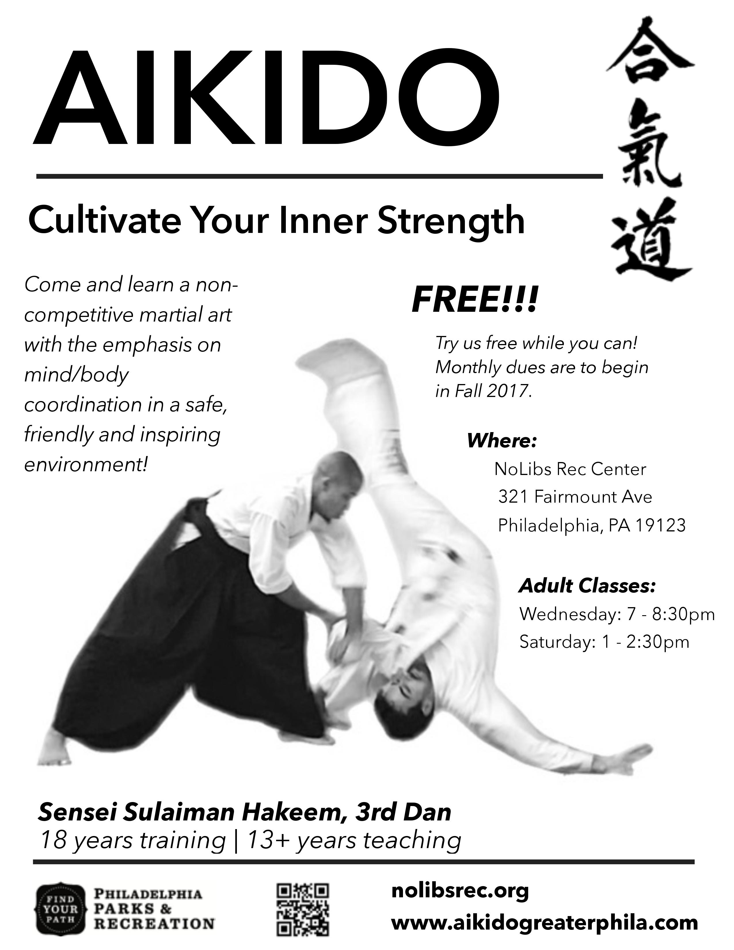 Aikido Starting August 9th At 7pm Free For Now